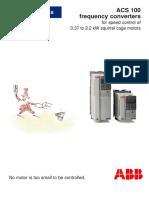 ACS 100 Technical Data