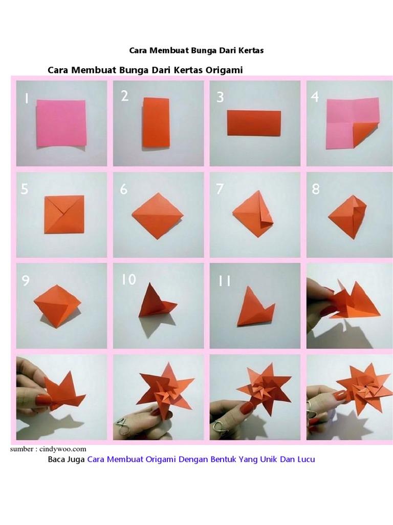 Cara Membuat Bunga Mawar Dari Kertas Origami Sederhana - All About ... | 1024x768