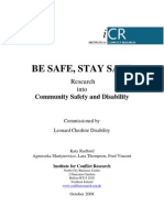 Be Safe Stay Safe_Leonard Cheshire Report
