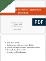 Dezvoltarea Durabila Si Agricultura Ecologica