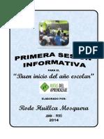 Sesion Informativa Para El Buen Inicio Del Ano Escolar 2014