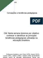 Concepções e Tendências Pedagógicas