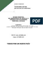 3.Trimestral Julio - Septiembre 2015, g 03 Antioquia, Consorcio Vias Alta Ingenieria
