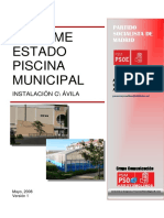 INFORME ESTADO PISCINA MUNICIPAL