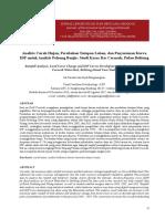 Analisis Curah Hujan, Perubahan Tutupan Lahan, Dan Penyusunan Kurva