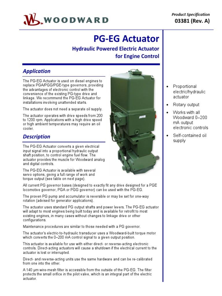 pgeg200 | Actuator | Engines