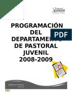 Programacion_2008-2009 Pastoral Juvenil