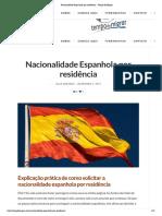 Nacionalidade Espanhola por residência - Tempo de Migrar