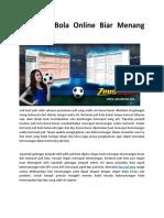 Tips Judi Bola Online Biar Menang Senantiasa