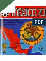 Album Panini Mundial 1970 Mexico
