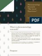 Phenomenology Research GRU