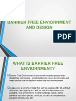 Barrier free enviornment and design final