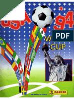 Album Panini Mundial 1994 Estados Unidos
