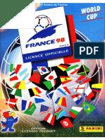 Album Panini Mundial 1998 Francia