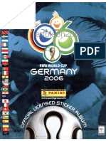 Album Panini Mundial 2006 Alemania