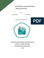 Makalah Aktive High Pass Filter - Tio Ramadhan - TT-3D