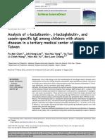 CHEN, Analysis of a-lactalbumin-, B-lactoglobulin-, And
