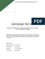 Informe de Demanda Acos Vinchos