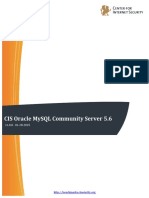CIS Oracle MySQL Community Server 5.6 Benchmark v1.0.0