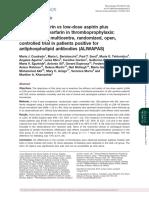 ALIWAPAS en Sindrome Antifosfolipidico