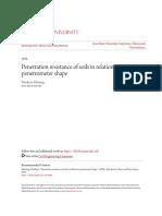 Penetration Resistance of Soils in Relation to Penetrometer Shape