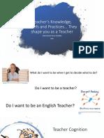 Teacher's Knowledge, Beliefs and Practices UTR