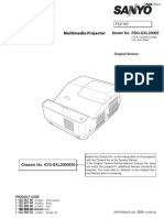 Sanyo Pdg-dxl2000 Service Manual