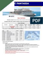 MSC Fantasia-croaziera Grup Organizat Mediterana de Vest 29.06.2019