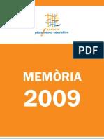 Memòria Fundació Plataforma Educativa 2009 CAT