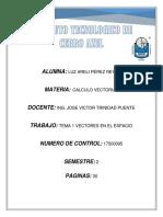 CALCULO VECTORIA UNIDAD 1