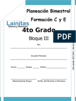 4to Grado - Bloque 3 - Formación CyE