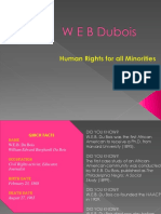 W E B Dubois Human Rights