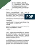 Impactos Previsibles Al Ambiente- Felipe Colorado
