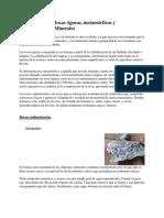 Clasificación de Rocas