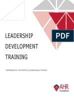 Leadership development training - Updated November 2018