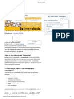 La Salmonelosis