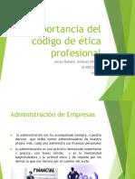 Importancia Del Código de Ética Profesional