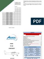 Piper Warrior PA 28 Checklist 1