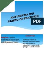 Antisepsia Del Campo Operatorio