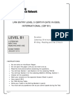 LRN Level B1 January 2016 Exam Paper