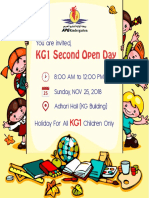 KG1 Second Open Day