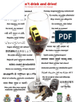 Multilingual Don't Drink and Drive Poster