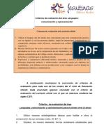 1-Criterios de Evaluacion Area Lenguajes