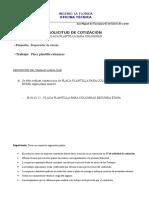 Solicitud de Cotizacion - 38.01.01.12 - Placa Plantilla Para Columnas Segunda Etapa