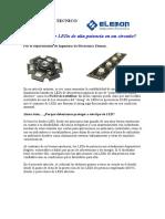 LEDs de Alta Potencia - Protección Del Circuito en 3 Puntos.