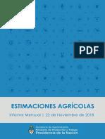 Informe Mensual de Estimaciones Agrícolas  11/18