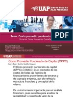 5 Costo Promedio Ponderado de Capital