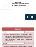 Jurnal Mata Clinical Characteristics of Intermedian Uveitis in Adult Turkish Patients