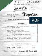 01-014-119 Liga de Educación Racionalista - Escuela Popular