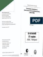 01014045 DUSSEL - Curriculum, Humanismo y Democracia en La Enseñanza Media. Cap1 , 3 y 4